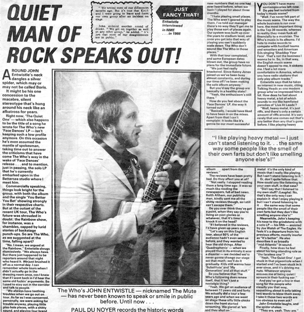 New Musical Express article from April 11, 1981
