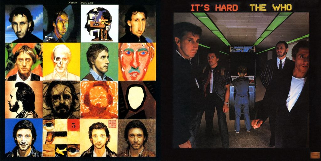 """The Who's """"Face Dances"""" and """"It's Hard"""" album covers"""