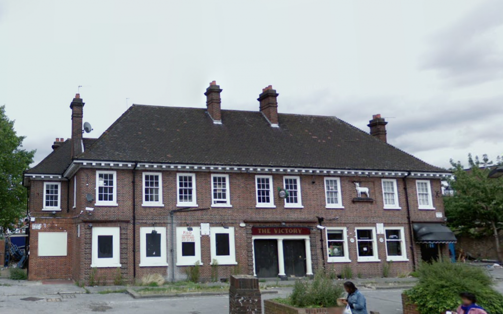 The White Hart Hotel, Southall as it appeared in 2008 before it's demolition