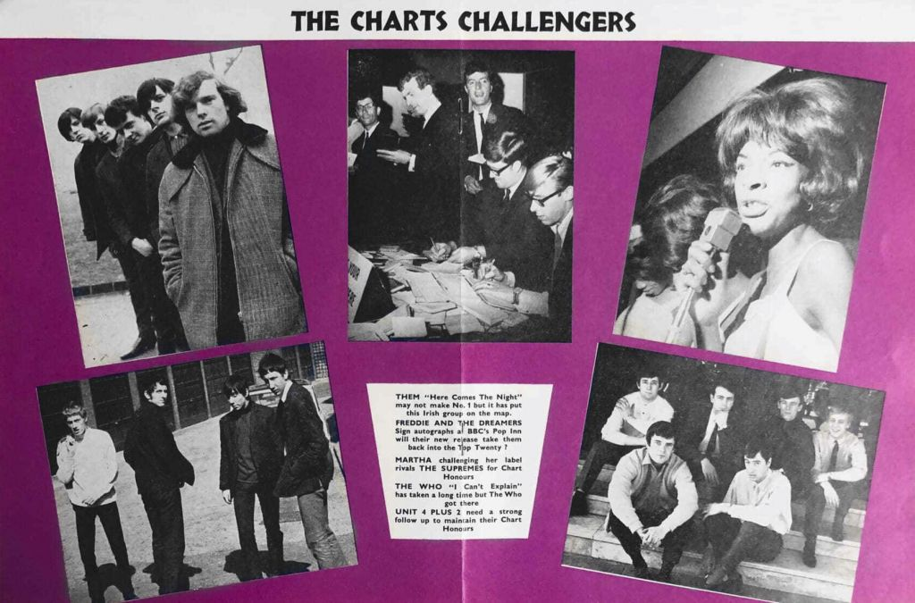 The Chart Challengers from Pop Weekly on May 1, 1965