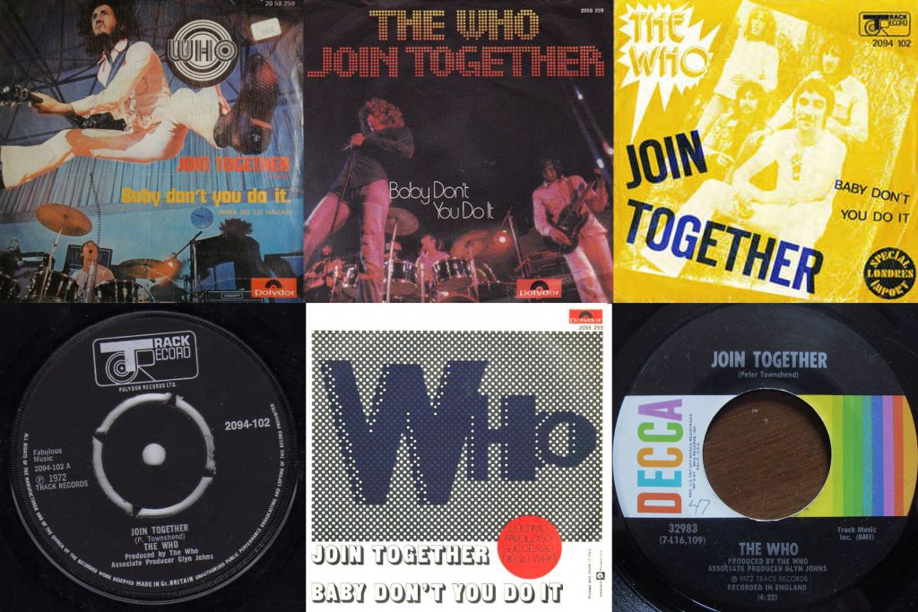 "The ""Join Together"" single from various countries"