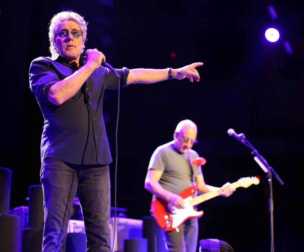The Who performing on May 4, 2016