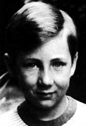 Pete Townshend as a young boy