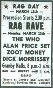 Ad for The Who's March 13, 1967 concert