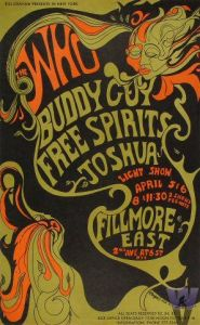 Poster for The Who's April 5 & 6 1968 concerts at the Fillmore East