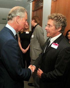 Roger Daltrey and Prince Charles on May 13, 2009