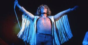 Roger Daltrey performing at Woodstock