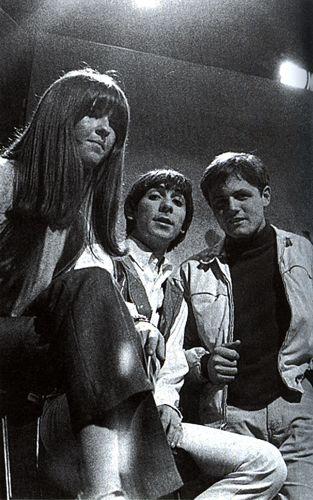 Keith Moon and Bruce Johnston of the Beach Boys at Ready Steady Go!