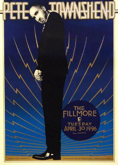 Poster for Pete Townshend's April 30, 1996 concert