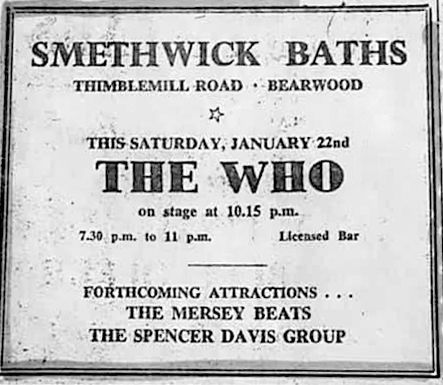 Ad for The Who's January 22, 1966 concert