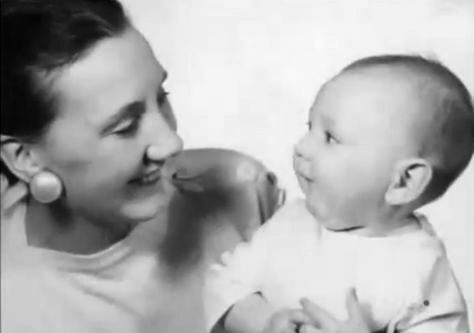 Pete Townshend as a baby with his mother