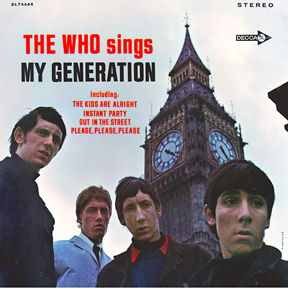 "Cover of The Who's ""The Who sings My Generation"" album"