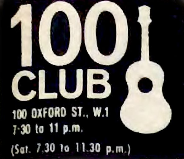 "Logo of the ""100 Club"" in London"
