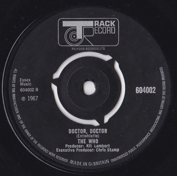 """B side of The Who's """"Pictures of Lily"""" single, """"Doctor, Doctor"""""""