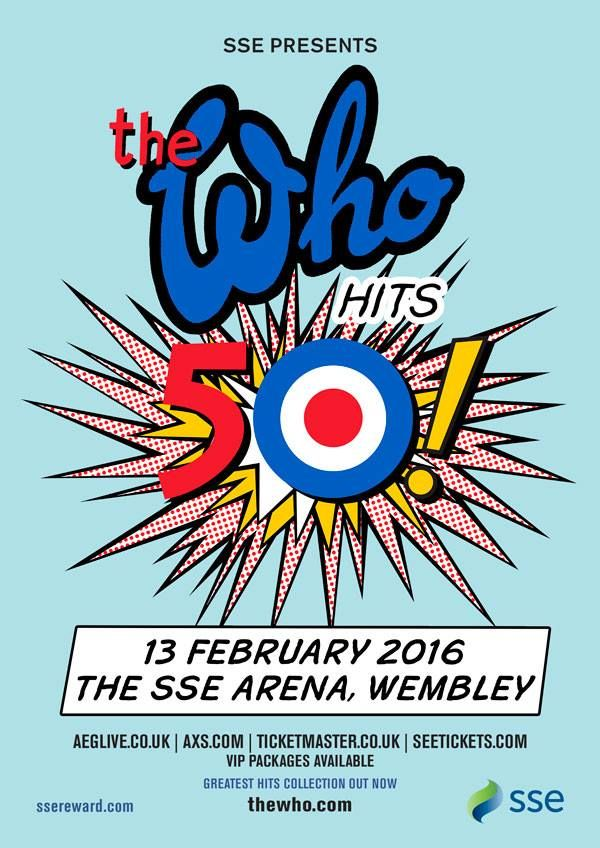 Poster for The Who's February 13, 1996 concert at the SSE Arena, Wembley