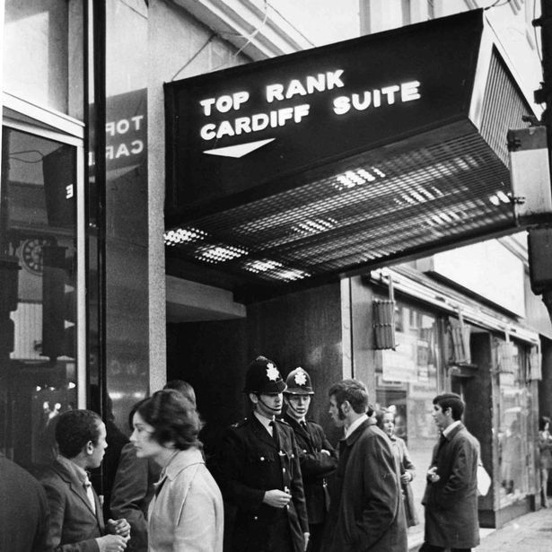 Image of the Top Rank Suite in Cardiff in the 1960s
