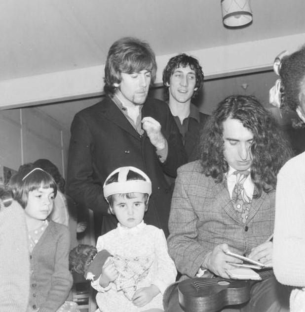 Photo of Pete Townshend, Graham Nash and Tiny Tim