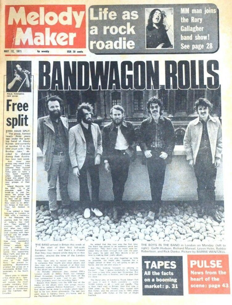 Cover of Melody Maker from May 22, 1971