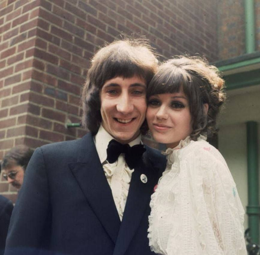 Pete Townshend and Karen Astley on their Wedding day, May 20, 1966