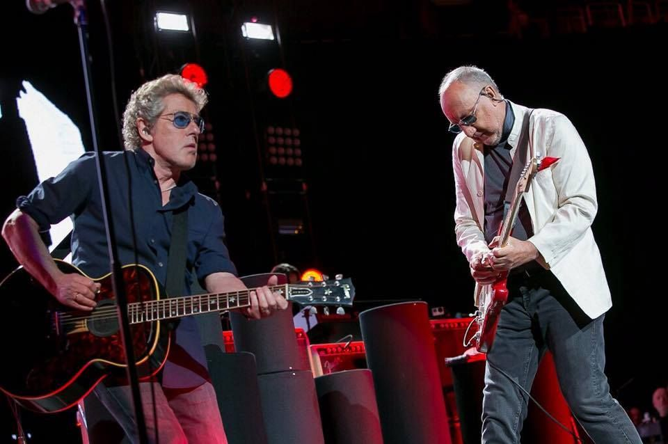 Roger Daltrey and Pete Townshend perform with The Who on May 15, 2016