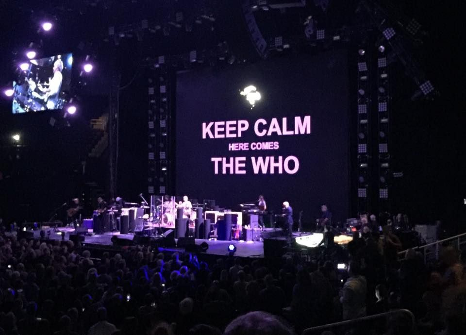 The Who performing on April 29, 2016