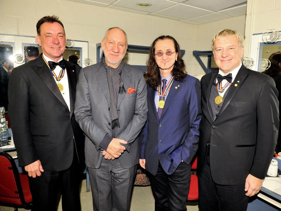 Pete Townshend and the member so the band RUSH