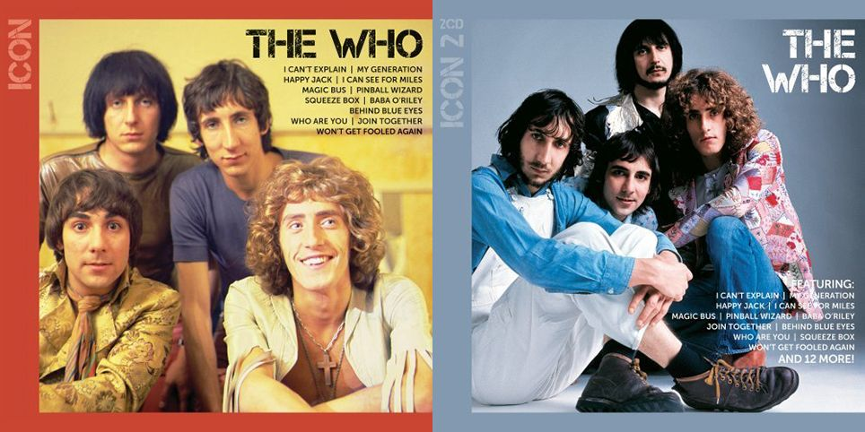 """Covers of The Who's """"ICON"""" CDs"""