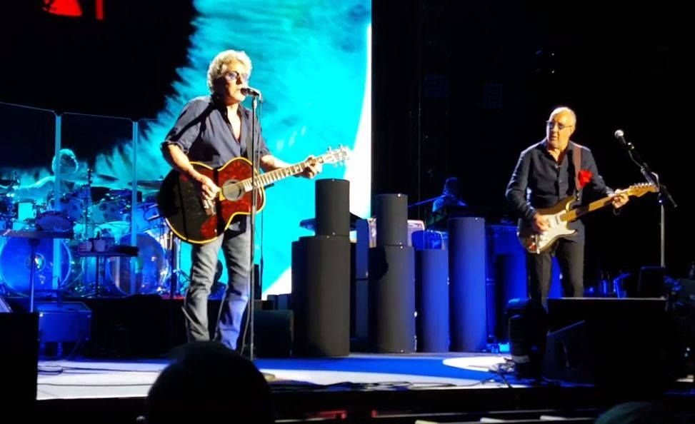 The Who performing on May 10, 2016